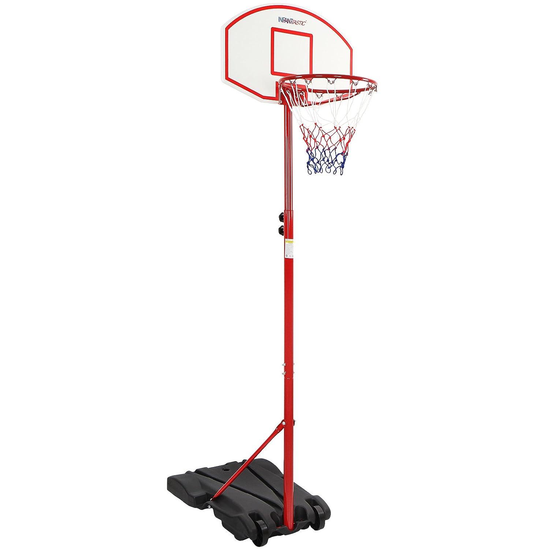 Infantastic Canestro pallacanestro basket per esterno con ruote e altezza regolabile 192 - 245 cm BKBSD001A0000000