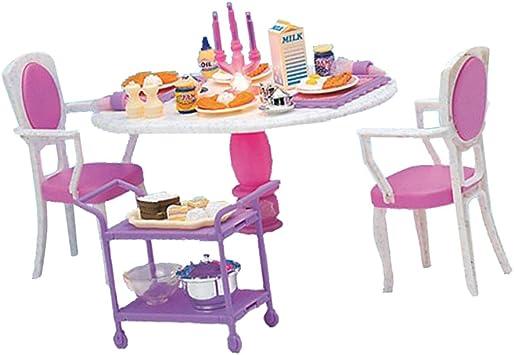 mesa silla juguete con bajilla