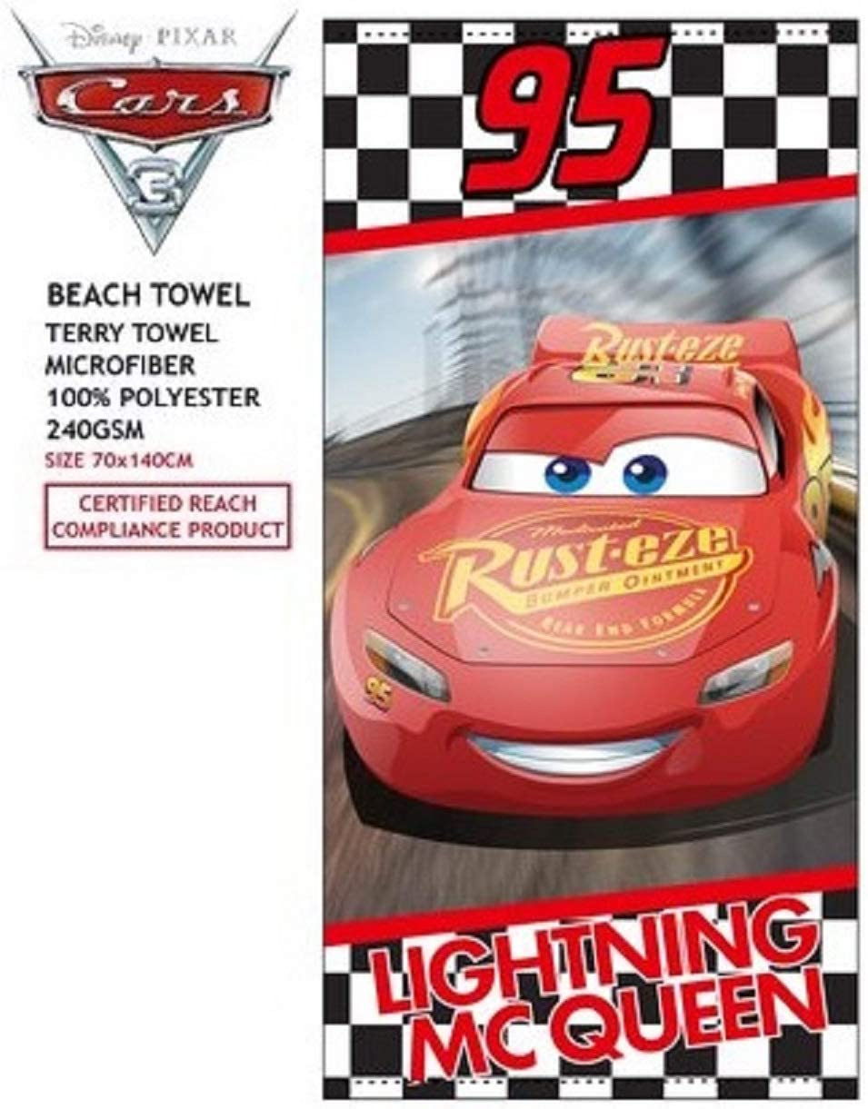 Flash Mc Queen Telo Mare Cars Borsa da Spiaggia Cars Disney