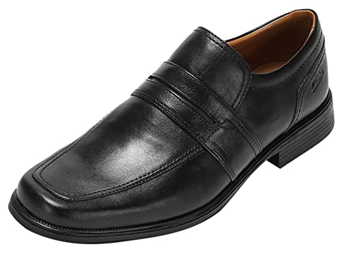 27487c1aa4aa3 Clarks Men s Slip-On Loafer Flats Shoes Huckley Work Black Leather ...