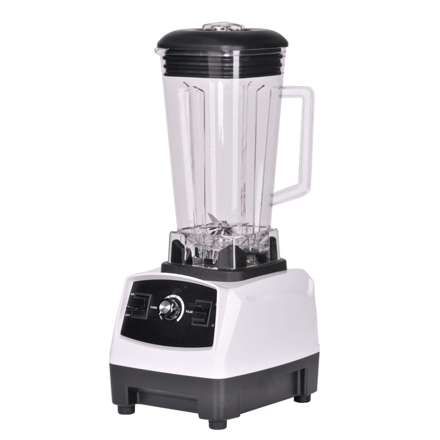 2200W Heavy Duty Professional Blender Mixer Juicer High Power Fruit Food Processor Ice Smoothie,WHITE,UK Plug