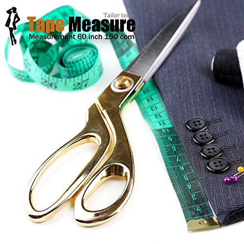 5 Piece Body Measuring Ruler Sewing Tailor Tape Measure Soft Flexible 60 Inch 150cm Colorful by BUSHIBU