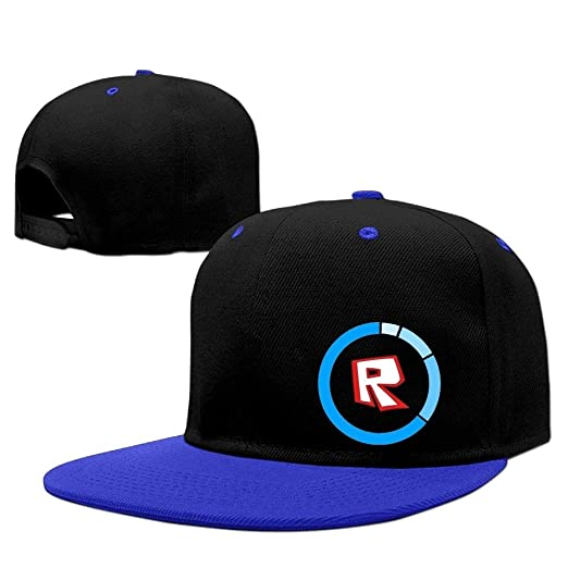 Amazon.com  Roblox Funny Games Snapback Cap (Blue)  Clothing 77c1704c4604
