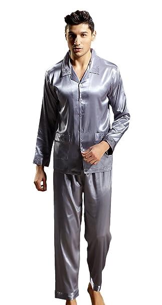DQQ - Pijama - para hombre Gris - Gris/bleu Large