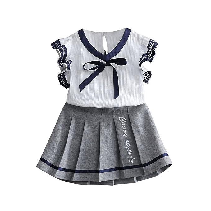 Amazon.com: Molyveva - Conjunto de camiseta de vestir corto ...