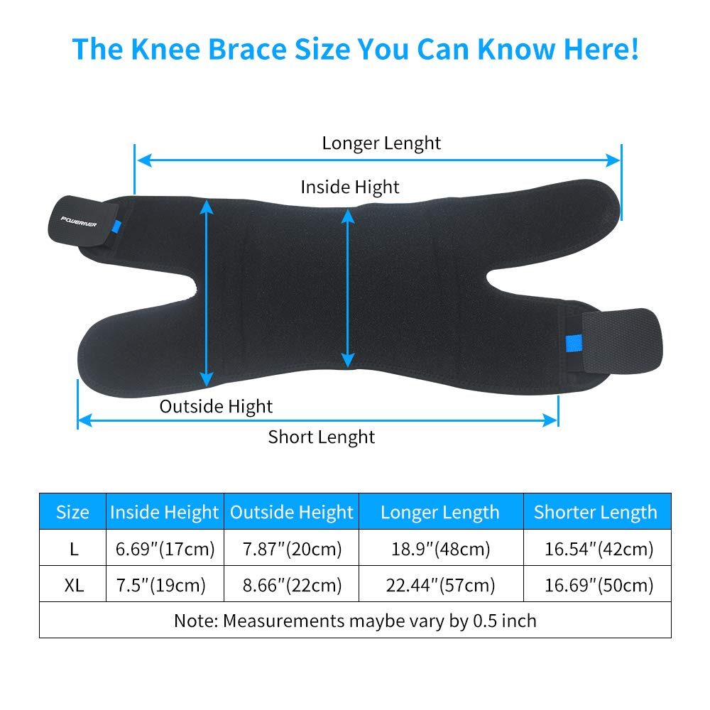 Knee Support, XPLUS Knee Brace Support Neoprene Sleeve with Adjustable Strap for Sport, Running, Basketball - Arthritis Pain Relief, ACL, MCL, Meniscus Tear Support, Wraps for Men and Women