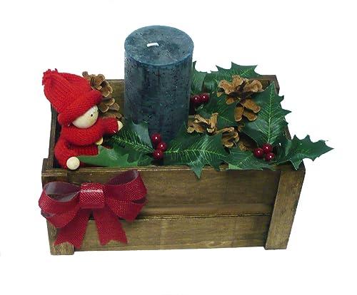 Arreglos navideños, centros de mesa, vela y flores de pascua ...