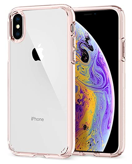 competitive price d2085 c97ad Spigen Ultra Hybrid Designed for Apple iPhone Xs Case (2018) / Designed for  Apple iPhone X Case (2017) - Rose Crystal