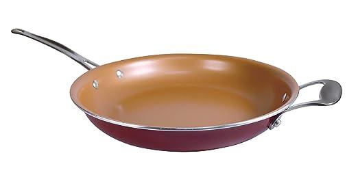 BOTOPRO - Sartén Red Copper 24cm, la sartén Que no se Raya y Nada se Pega en Ella: Amazon.es: Hogar