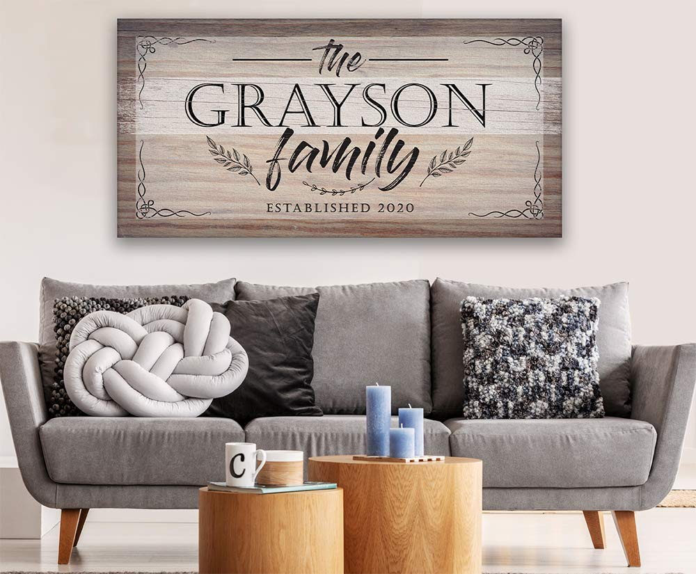 Sweet Honey Custom Name Sign Large Wall Art Stretched Canvas Print Home Decor Personalized Gift for Housewarming