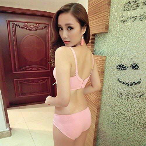 Heart&M Soutien-gorge réglable de série deux pièces fille femme sous-vêtements et culottes (jantes) , pink , 80b