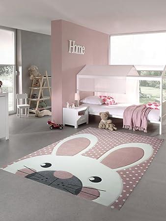 Kinderzimmer Grau Rosa kinderteppich spielteppich teppich kinderzimmer babyteppich hase in