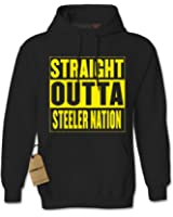 Expression Tees Straight Outta Steeler Nation Unisex Adult Hoodie