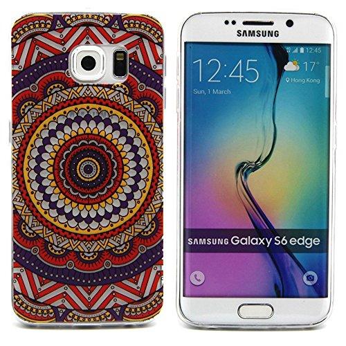 Galaxy S6 edge Case,3Cworld Ultra Thin Clear Art Pattern Crystal Gel TPU Rubber Flexible Slim Skin Soft Case for Samsung Galaxy S6 edge