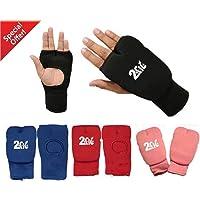 2Fit Karate Guantes algodón elástico Artes Marciales MMA, Boxeo, Entrenamiento Guantes Interiores Abierto Dedo de Muay Thai Vendas Fist Acolchada–Guantes de Karate