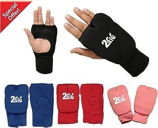 2Fit Gants rembourrés en coton élastique pour arts martiaux/boxe/MMA/entraînement/boxe thai/karaté