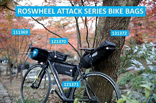 Roswheel Attack Series 111369 Waterproof Adjustable Capacity Bike Bicycle Cycling Handlebar Bag Detachable Dry Pack, Black by Roswheel (Image #8)