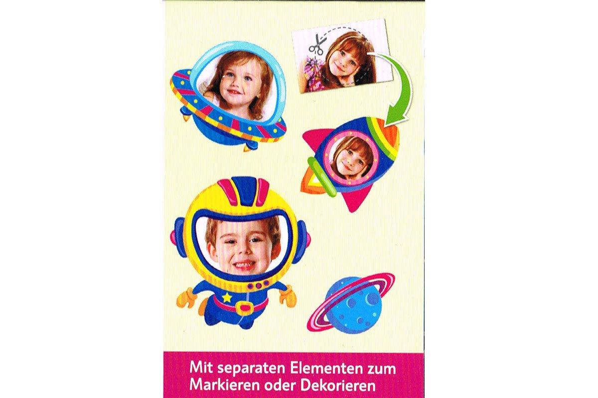 Kindermesslatte Meterma/ß Kinderzimmer 20-170cm Astronaut Rakete Weltraum Space