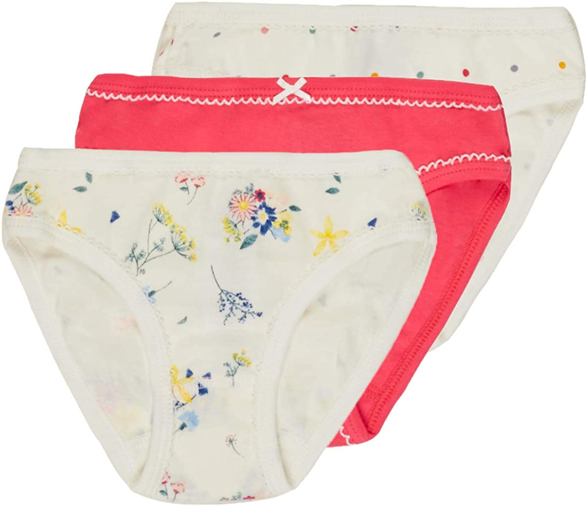 Petit Bateau Girls 3 Pack Panties Style 54465 Size 2-12