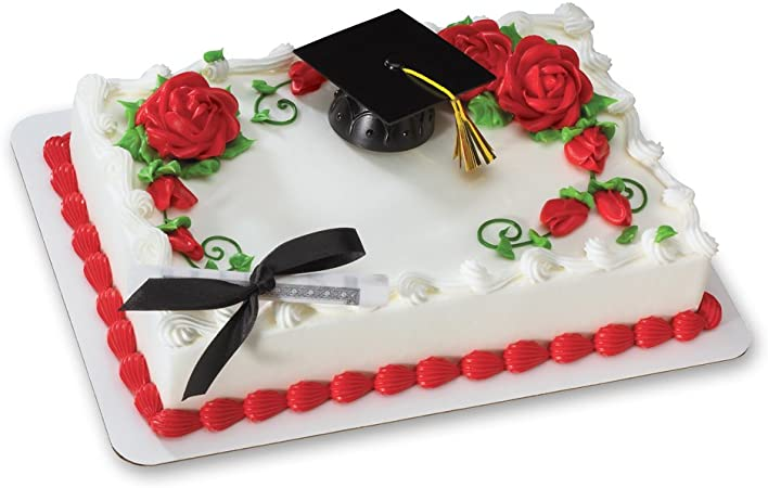 Customizable Cake Topper Graduation Cake and Cupcakes Graduation Party Set of 12 Black Graduation Cap and Diploma Cake Toppers