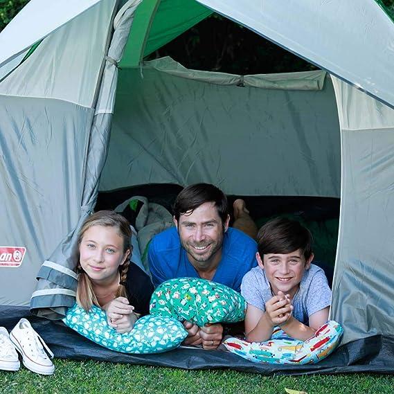 HappyLuxe Expedition Almohada de viaje y funda de almohada para niños, 45,7 x 33 cm, ideal para viajes, niños pequeños, coche familiar, camping, ...