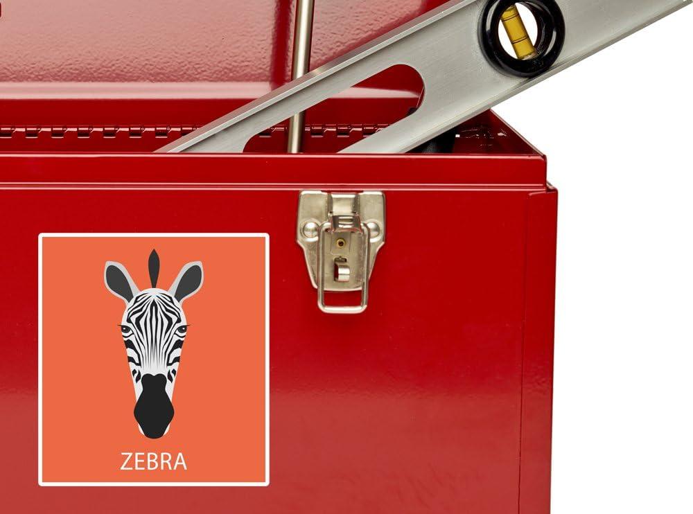 2 x Zebra Vinyl Stickers Travel Luggage #10004