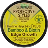 TALIAH WAAJID Protective Styles Hairline Help 2-in-1 Plus Bamboo & Biotin Edge Growth, 1 Oz