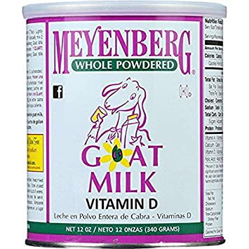 Meyenberg Goat Milk, Whole Powdered Goat Milk, Vitamin D, 2Pack (12 oz