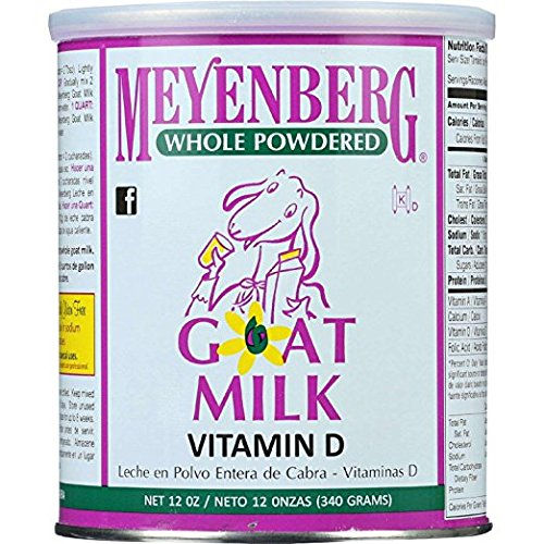 Amazon.com : Meyenberg Goat Milk, Whole Powdered Goat Milk, Vitamin D, 2Pack (12 oz (340 g)) Gclslw : Grocery & Gourmet Food