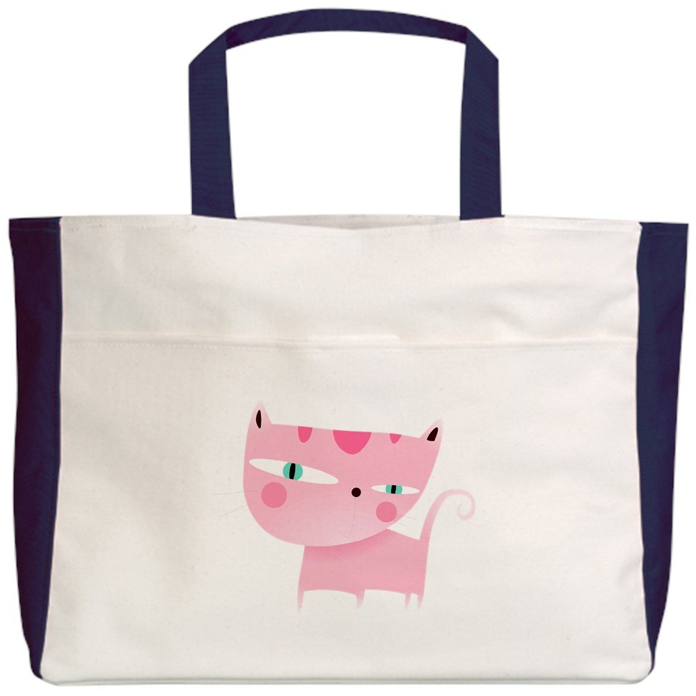 2-Sided Royal Lion Beach Tote Cute Pink Kitten Kitty Cat Lover