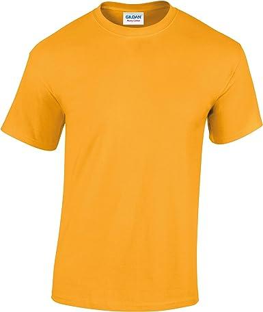 Camiseta de algodón para niños, de Gildan Amarillo dorado S: Amazon.es: Ropa y accesorios