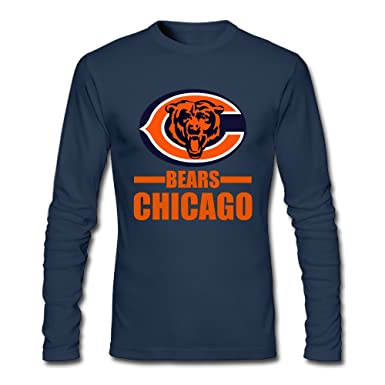 sports shoes 2d74b dafa8 Cotton Navy Long Sleeve Chicago 100 Men T-shirt Bear woollen ...