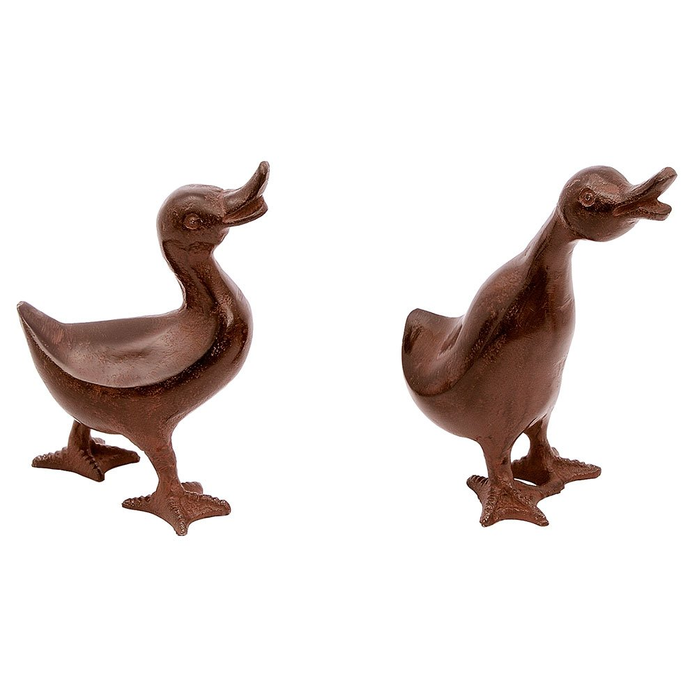 Achla Designs E-11 Ducks Statuary for Indoor and Outdoor Decorative use, Bronze
