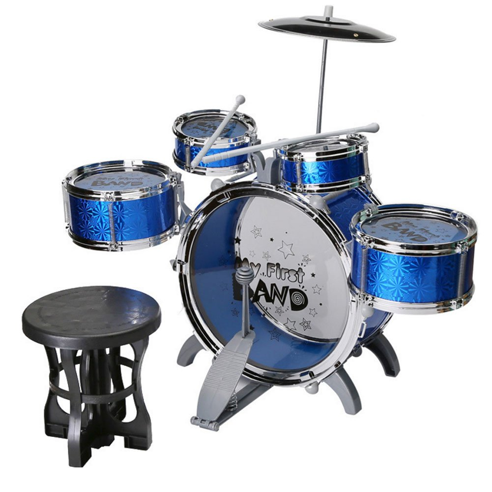 Children Play Drum Sets Toys/ Percussion instruments/Christmas Gift/ First Music instruments (purple) HKJC