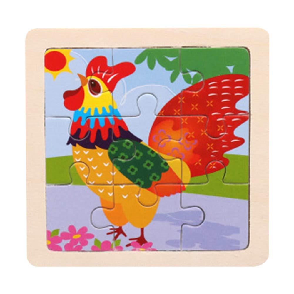 Cebbay-Juguete rompecabezas Juguetes para niños Regalo del día de los niños,Juguete de Madera Educativo del Entrenamiento del Desarrollo de los niños del bebé del Rompecabezas