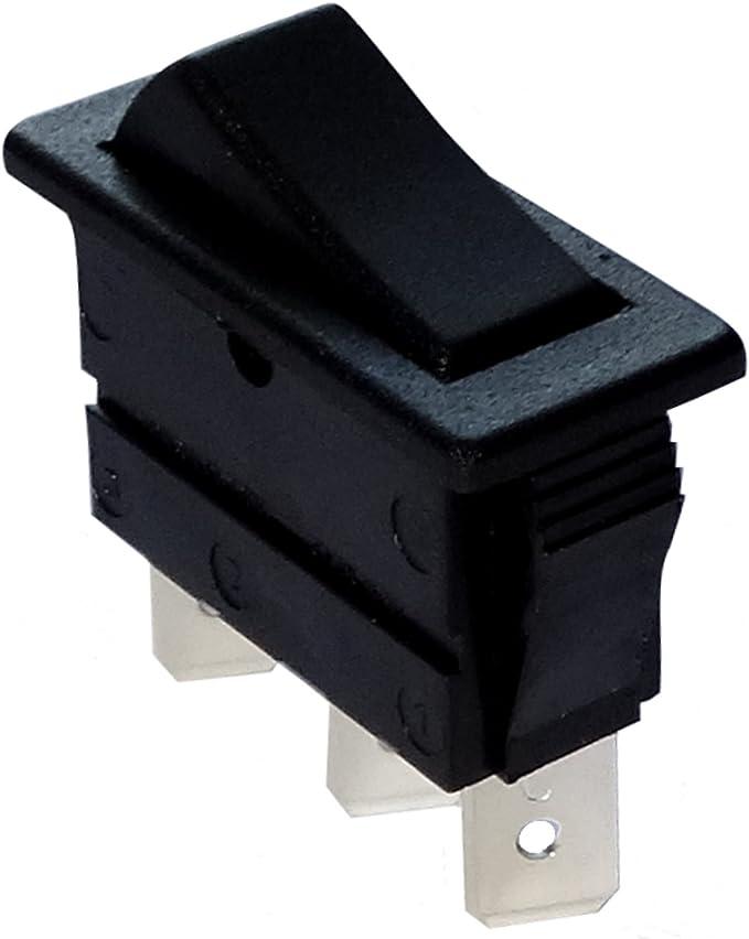 Interrupteur commutateur contacteur bouton /à bascule noir SPST ON-OFF 10A//250V 10A//28V 2 positions AERZETIX
