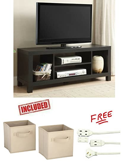 Cross Mill TV Stand For TVs Up To 42u0026quot; In Black Oak Finish With Set