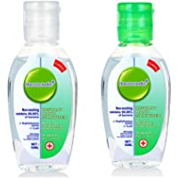 WSOOX 2pcs Mini Hand Sanitizer Hand Wash Gel Natural's Travel Size Toiletries 1.7 oz, Airline Approved, Refillable bottle