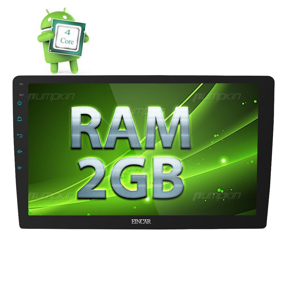 EincarクアッドコアのAndroidのフル10.1インチ800 * 480タッチスクリーンのサポートGPSナビゲーションBluetoothのステアリングホイールコントロールAV出力WIFI 6.0オートカーラジオステレオ2G RAM + 16G ROMダブルディンヘッドユニット B074P1JSC8
