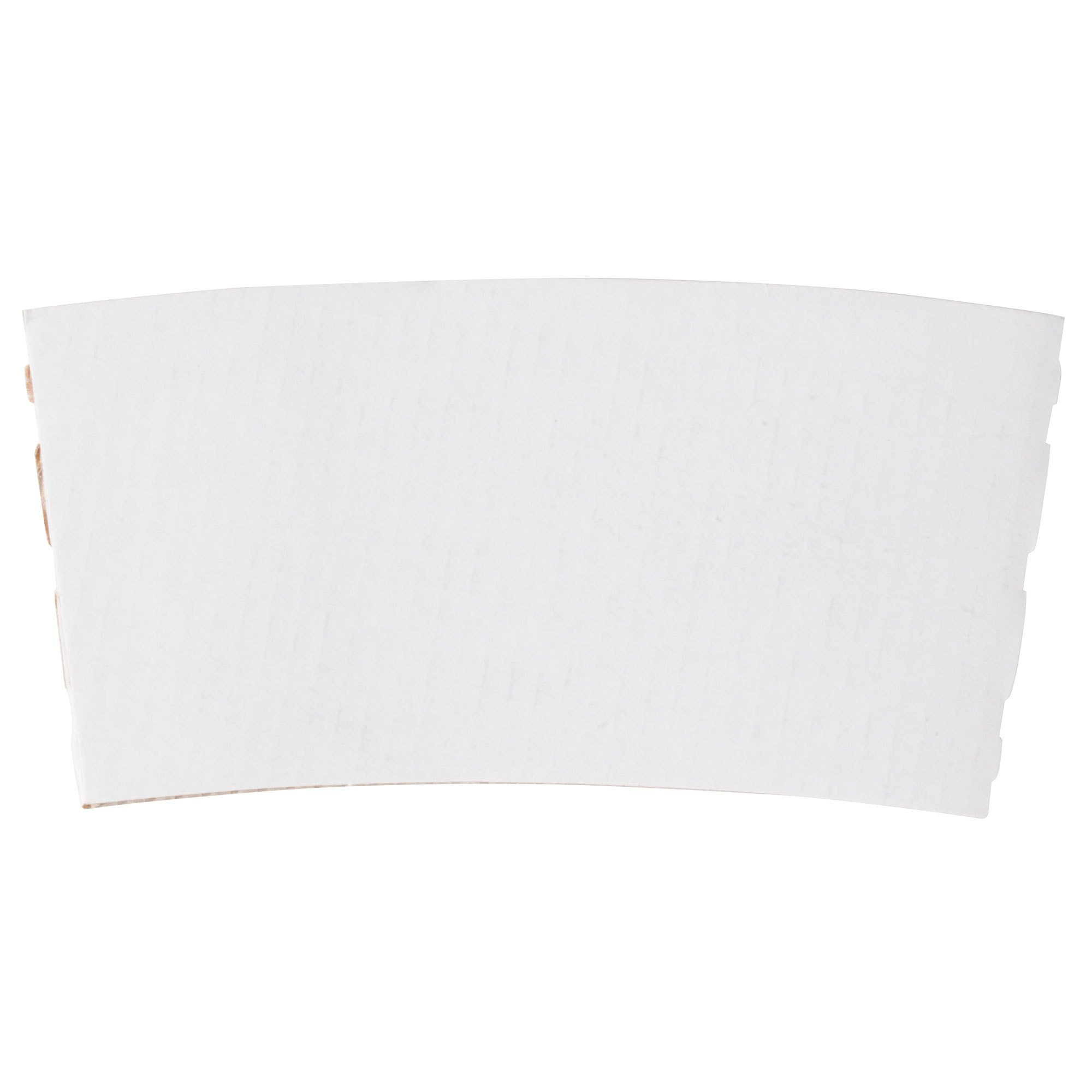 12-24 oz. White Customizable Coffee Cup Sleeve - 1500/Case