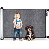 BABYSEATER Baby Gates for Doorways or Stairs - Retractable Safety Gate for Child, Pets, Dog, Puppy or Cat up to 40 lbs…