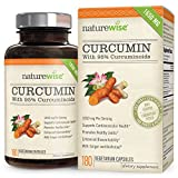 NatureWise Curcumin Turmeric 1650mg with 95% Curcuminoids & BioPerine Black Pepper Extract, Advanced Absorption, Cardiovascular & Healthy Joints Support, Non-GMO, Gluten-Free, 180 Vegetarian Capsules