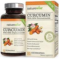 NatureWise Curcumin Turmeric 1650mg with 95% Curcuminoids...