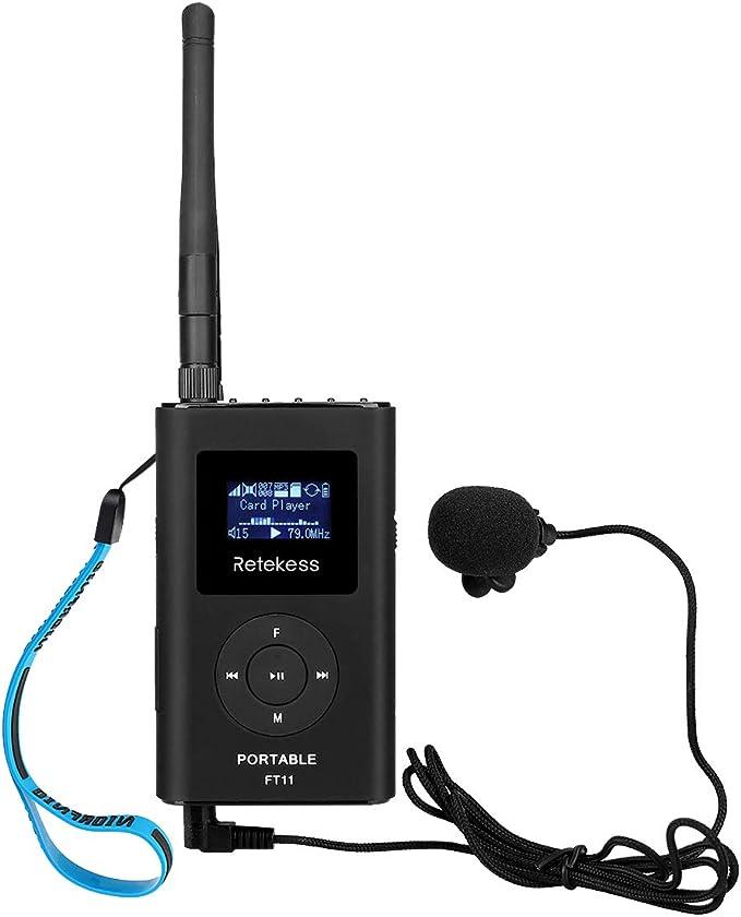 Retekess 15W FM Transmitter Stereo Wireless Broadcast+Bluetooth+Antenna Meeting