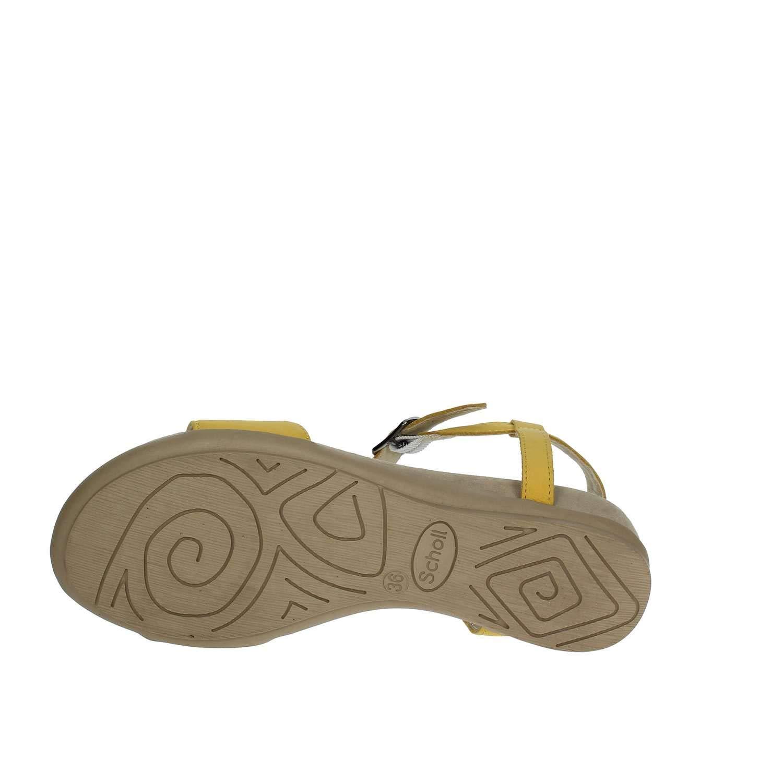 Scholl 36 EU Scarpe Donna Sandali Nashira in Pelle Giallo F26645-1067-400   Buy Online at Low Prices in India - Amazon.in 8ef74baa377