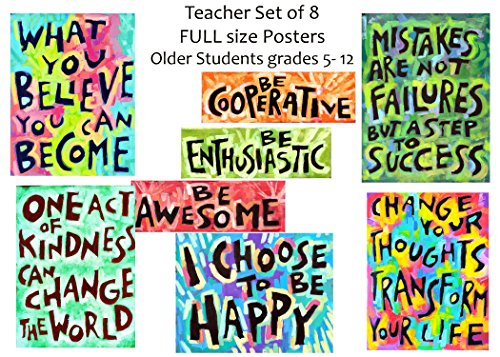 classroom-posters-grade-5-12-middle-and-high-school-teacher-set-of-8