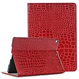 iPad case for ipad air,Vacio Luxury Book Style PU Leather Folio Stylish Stand Case Cover for ipad air (Red)