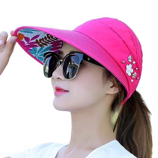 ede3f452bf8 Naimo New Women s Large Big Brim Anti-UV Beach Hat Foldable Summer Sun Hat (