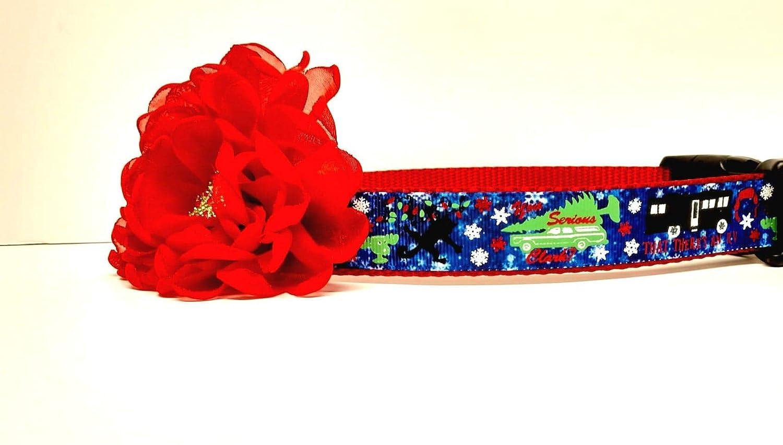 National Lampoon Christmas Navy Dog Collars
