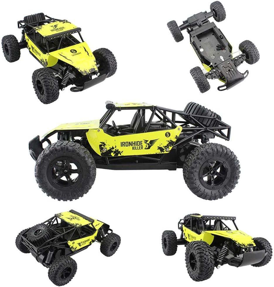 Zzlush RC Auto Hummer off-Road Drift Remote Veicoli di Controllo Monster Truck 1:16 2.4G Damping Giocattolo ad Alta velocità SUV Auto for i Bambini Regali (Color : Yellow) Yellow